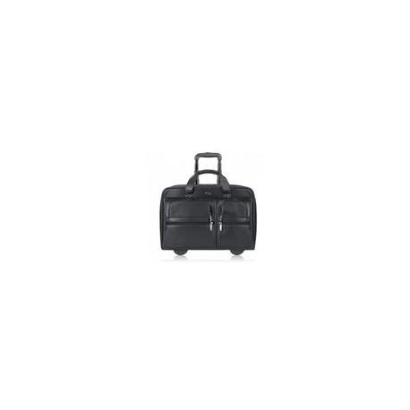 Portalaptop Solo con Ruedas 15.6 de Piel Negra - Envío Gratuito
