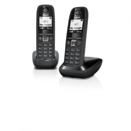 Telefono Gigaset Inalambrico AS405 Duo Negro - Envío Gratuito
