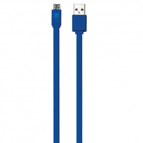 Cable Micro USB 3Ft Case Logic Flat Azul - Envío Gratuito