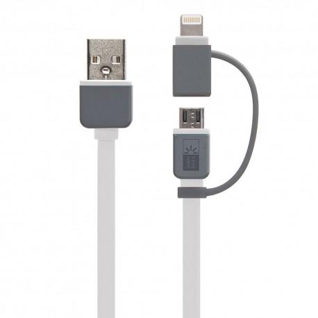 Cable Dual Light-Micro USB Case logic - Envío Gratuito