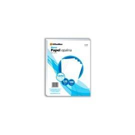 Opalina Officemax Carta Blanca 100 Hojas 125 Gr - Envío Gratuito