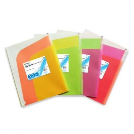 Folder de Polipropileno Horizontal con Cierre Varios Colores - Envío Gratuito