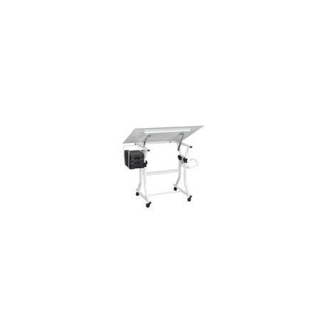 Restirador Officemax Laria Cristal Templado 8 mm Blanco - Envío Gratuito