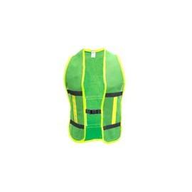 Chaleco de Malla con Reflejante verde y Bies Negro - Envío Gratuito