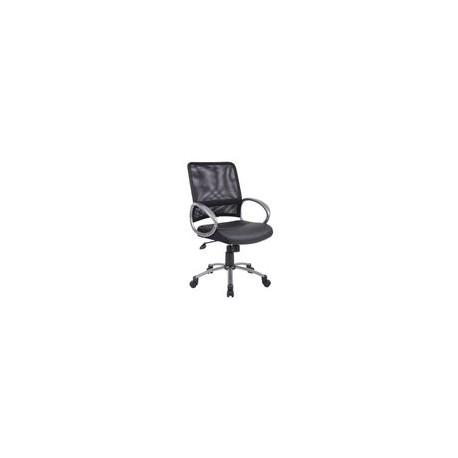 Silla Officemax Secretarial Lincon Tela Negro - Envío Gratuito
