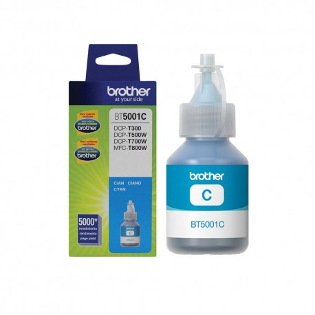 Botella Brother BT5001C Super alto rendimiento Tinta Cyan - Envío Gratuito