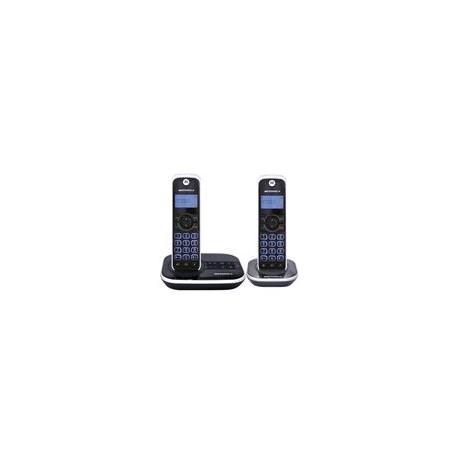 Teléfono Motorola Dúo con contestadora 4500 color negro - Envío Gratuito