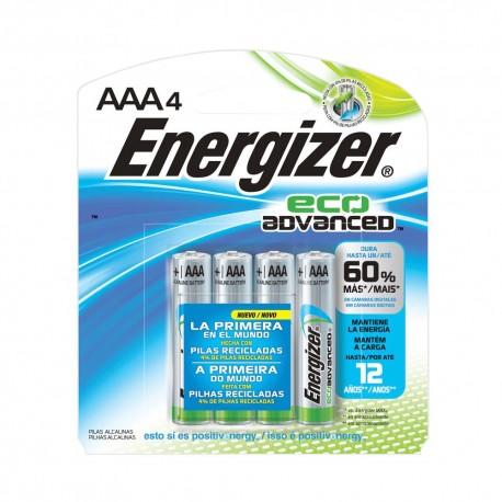PILA ENERGIZER ECO ADVANCED AAA 4 PZAS - Envío Gratuito