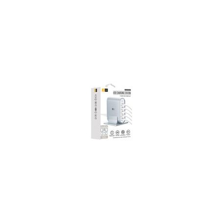 Adaptador Case Logic 7.1 Amp con ENtrada para 5 USBs Plateado - Envío Gratuito