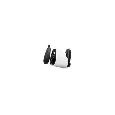 Cargador Capdase Para Coche Doble Entrada USB. Blanco - Envío Gratuito