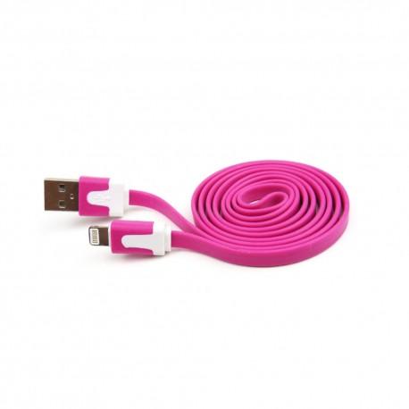 Cable Lightning 3.2 Flat Rosa - Envío Gratuito