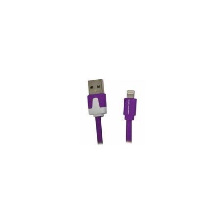 Cable Lightning 2.2 USB Flat Morado - Envío Gratuito