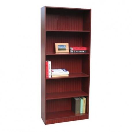 Librero 5 Repisas Ajustables Caoba - Envío Gratuito