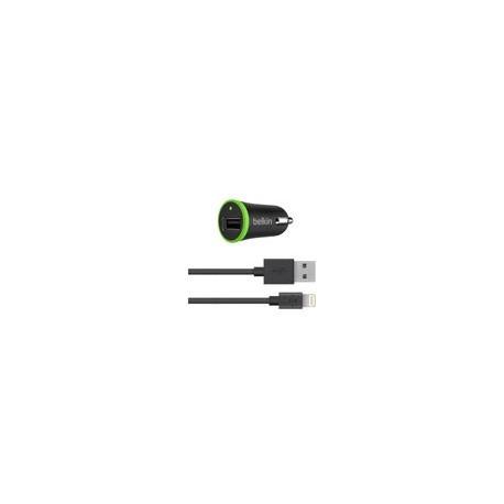 Cargador Auto con Cable Lightning Belkin Negro - Envío Gratuito