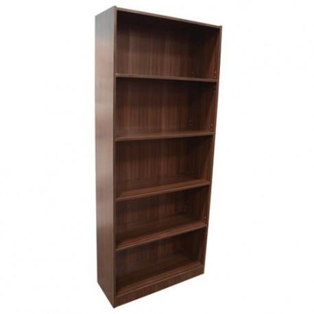Librero 5 Repisas MDF Chocolate - Envío Gratuito