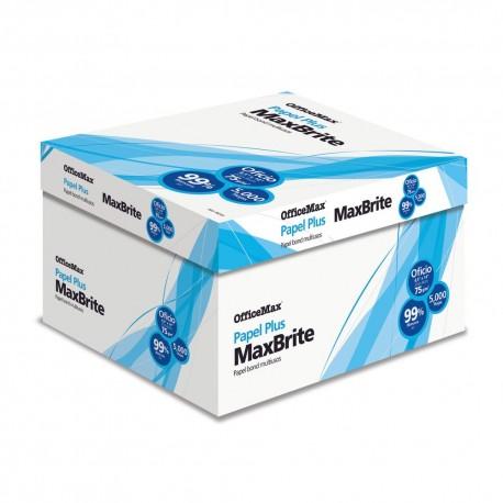 Caja Papel Officemax MaxBrite Oficio 5,000 Hojas - Envío Gratuito