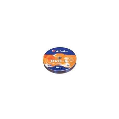DVD-R Verbatim 16X 4.7GB 120Min 16X 10Pk - Envío Gratuito
